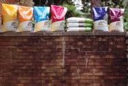 Seed bags on wall c